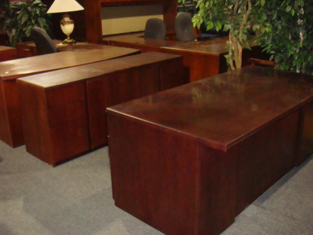 Gunlocke Desk & Storage Credenza Set