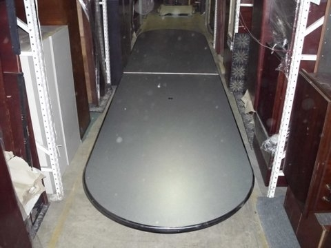 15′ X 42″ Gray Racetrack Table