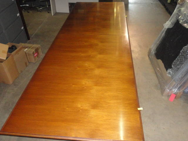 12′ X 4′ Rectangular Light Cherry Table