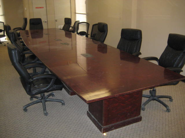 20′ X 4′ Cherry Boat Shape Conference Table