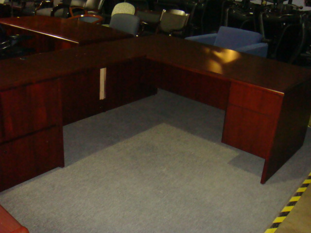 National L Shape Desk With 2 Return Sizes