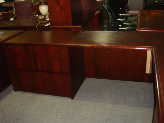 National L Shape Desk With 2 Return Sizes Used Office