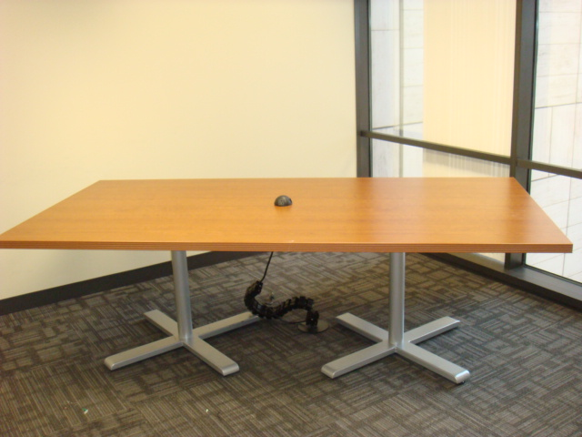 8′ X 4′ Light Cherry Steelcase Table