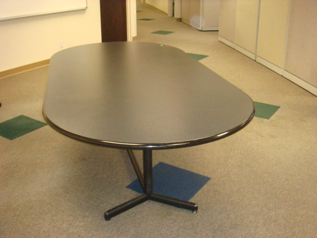 8′ X 4′ Gray Laminate Racetrack Table