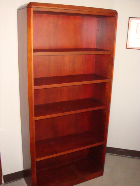 66″H Cherry Bookcase