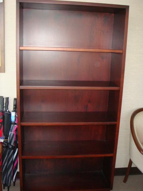 Mahogany Bookcase 72″H
