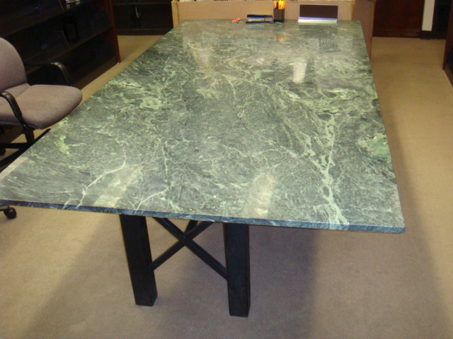8′ X 4′ Green Marble Table