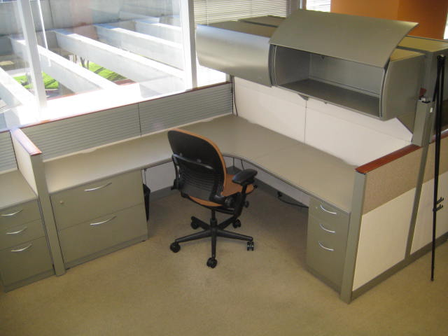 steelcase answer 7 x 7 stations used office furniture