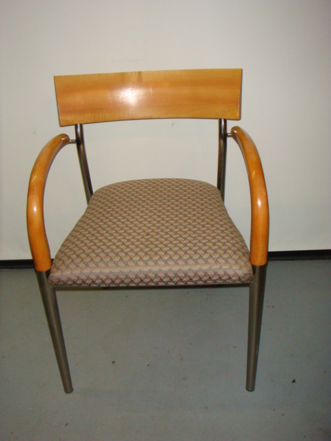 Bernhardt Maple Frame Side Chair Used Office Furniture