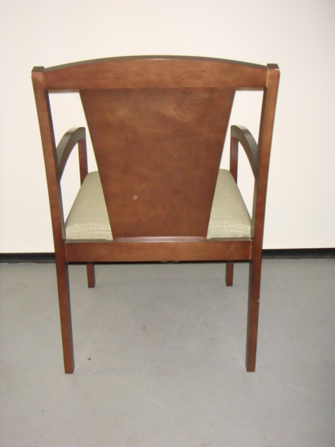 Wood Frame Guest Chair Used Office Furniture Dallas