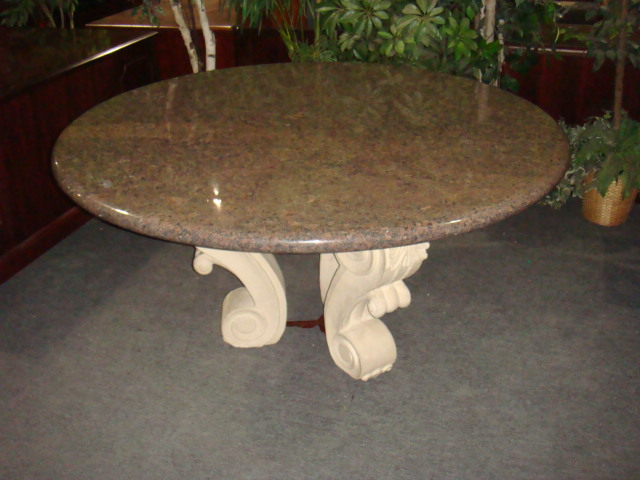 60″ Round Granite Table
