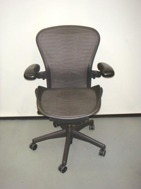 "Size B Aeron Chair ""Tuxedo"" Mesh"