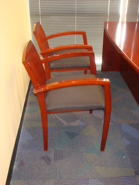 Cherry Wood Frame Guest Chairs Used Office Furniture