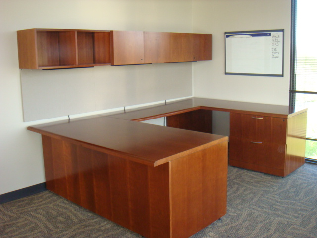 steelcase u shape w overhead used office furniture dallas preowned