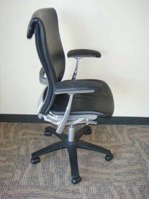 Knoll Life Chair Black Leather Used Office Furniture