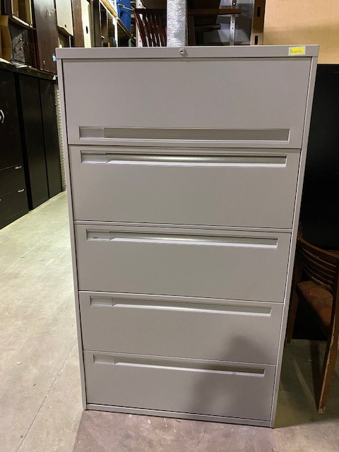36″W Steelcase 5 Drawer Lateral
