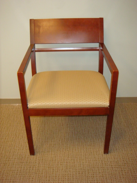 OFS Cherry Frame Guest Chairs