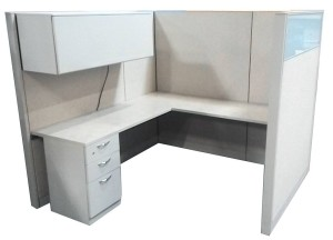 6′ X 6′ X 65″H Steelcase Answer