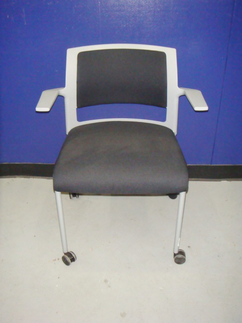 "Steelcase ""Move"" Chairs-Gray/Black"
