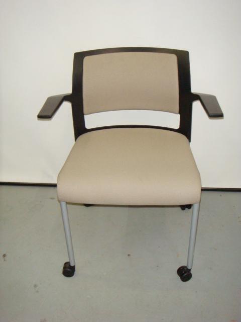 "Steelcase ""Move"" Chair-Black/Tan"