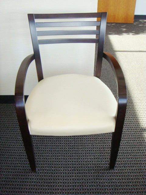 Dark Wood Frame Guest Chair