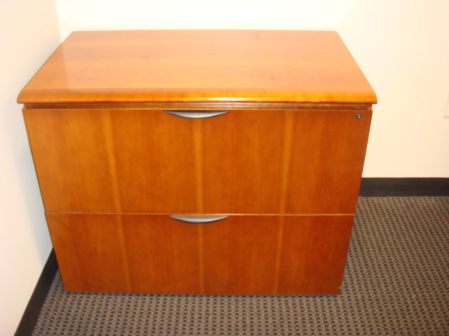 2 Drawer Wood Lateral