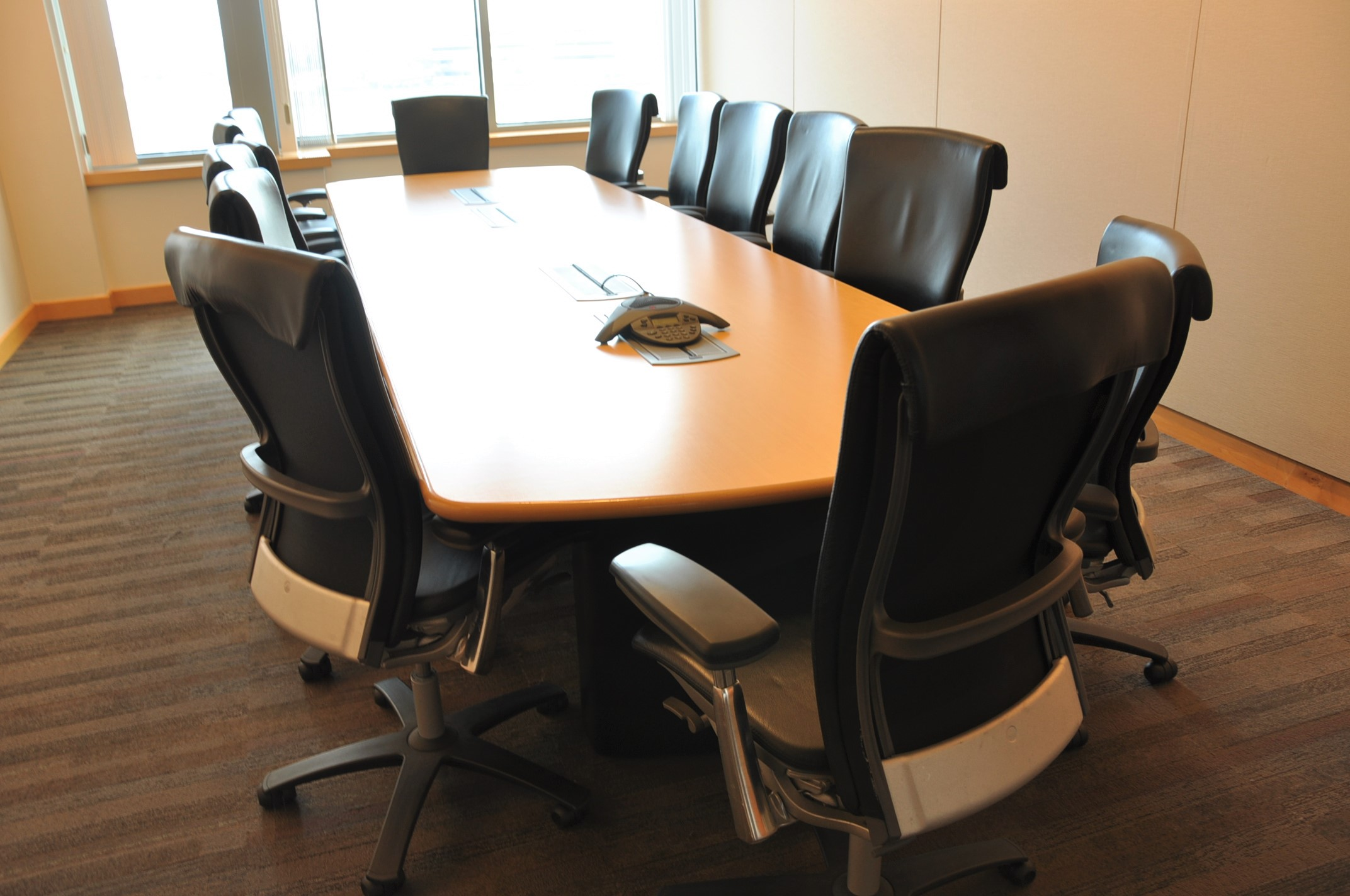 14 X 4 Conference Table W Power Used Office Furniture