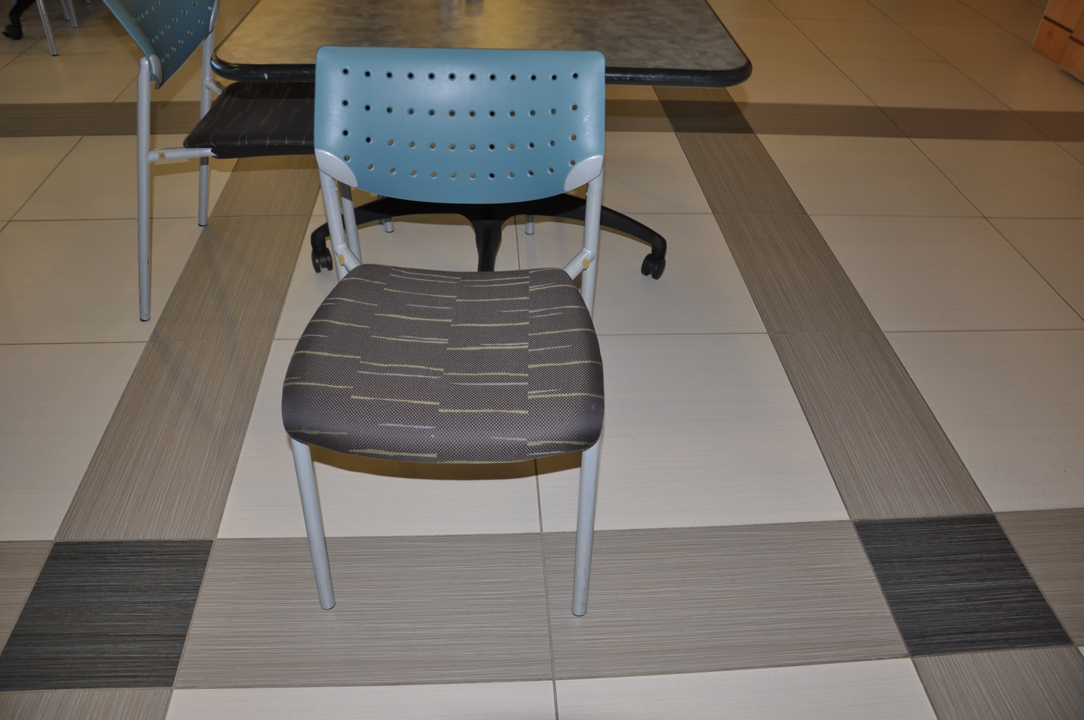 Light Blue Brown Break Room Chairs Used Office Furniture Dallas