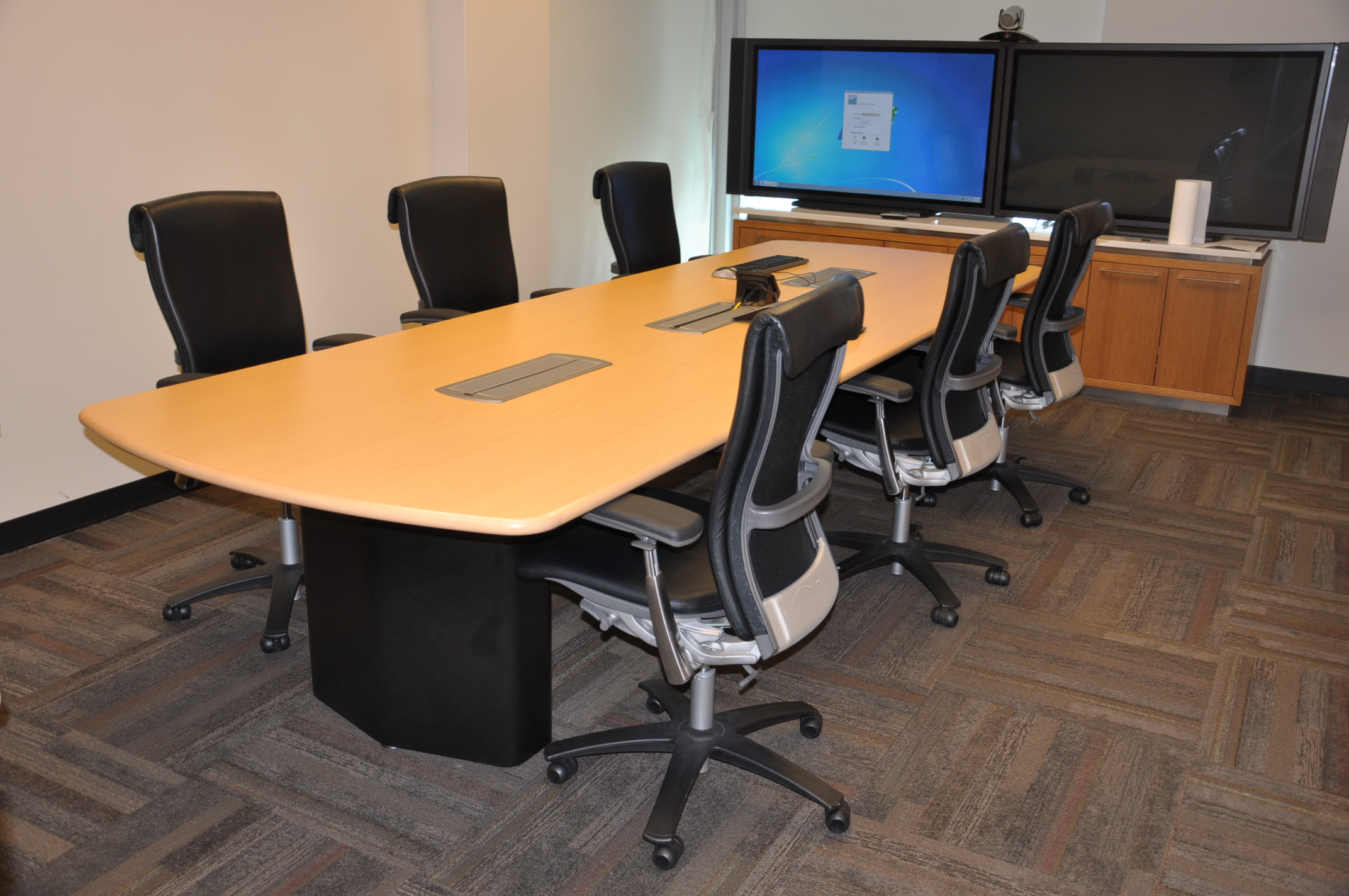 12′ X 4′ Maple Conference Table W/power