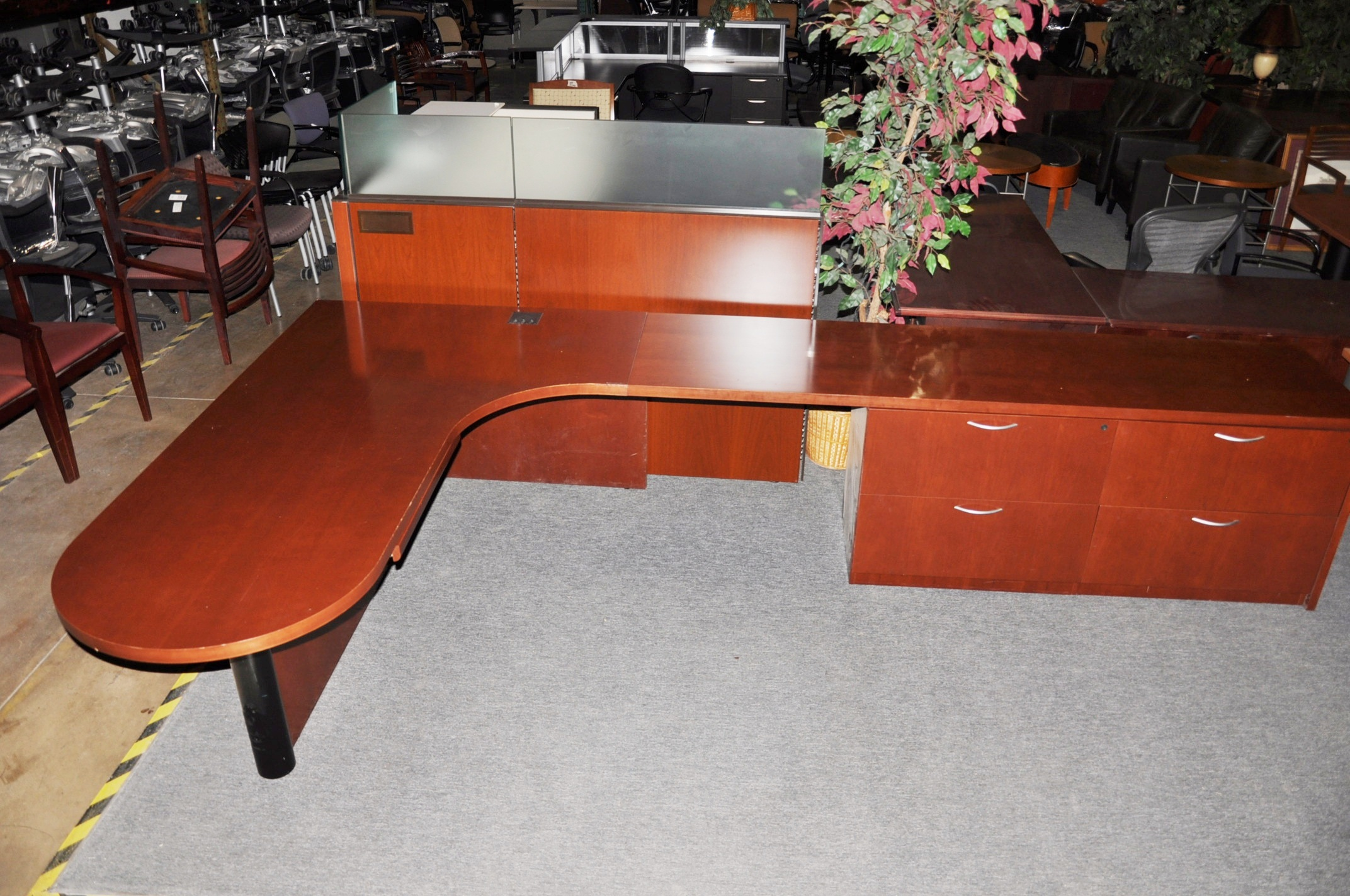 Bullet Top Desk-Cherry Finish