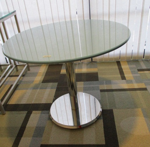 36″ Glass Top Table