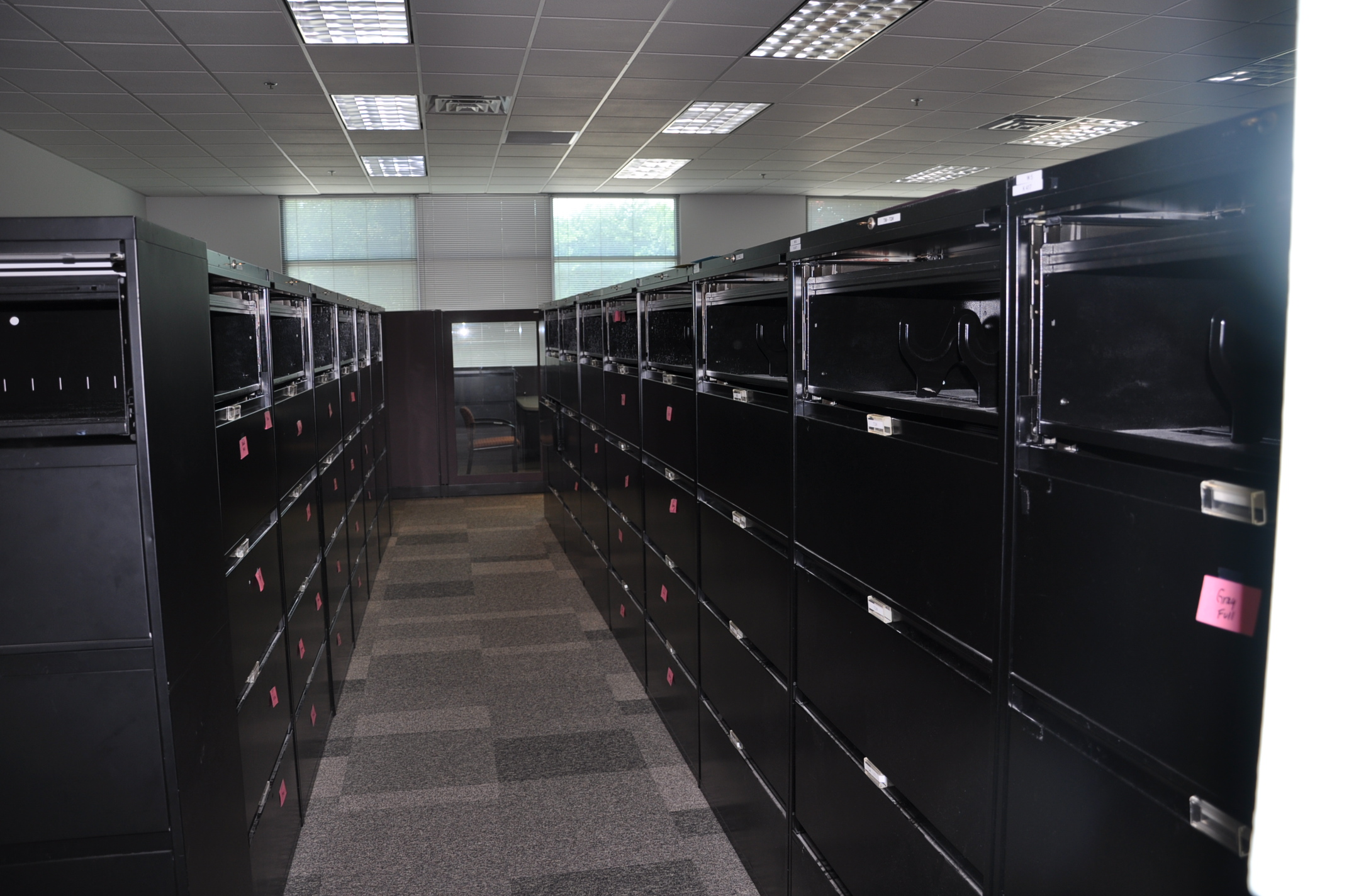 Black 5 Drawer Laterals