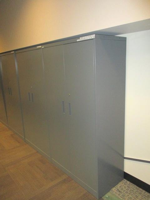 36″ Gray Storage Cabinets