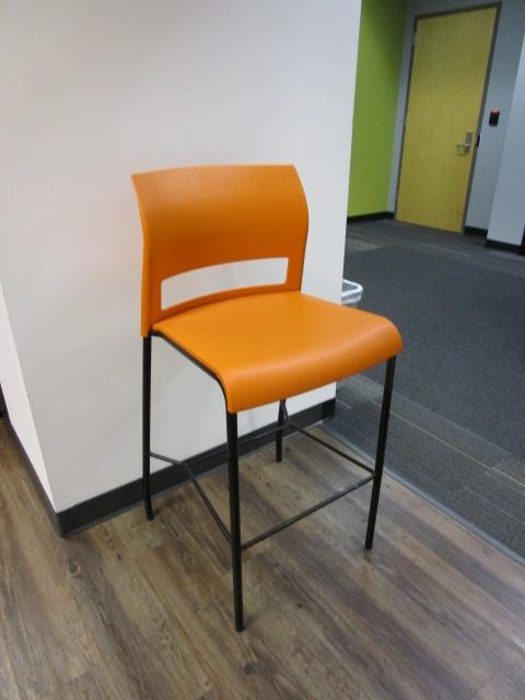 Orange Breakroom Stools