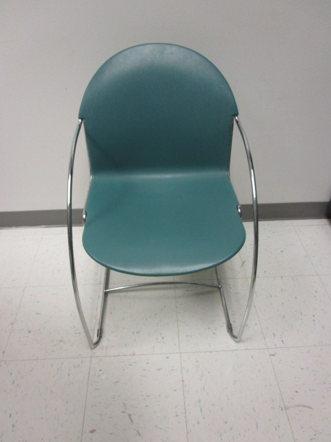 Teal Green Stacking Chairs