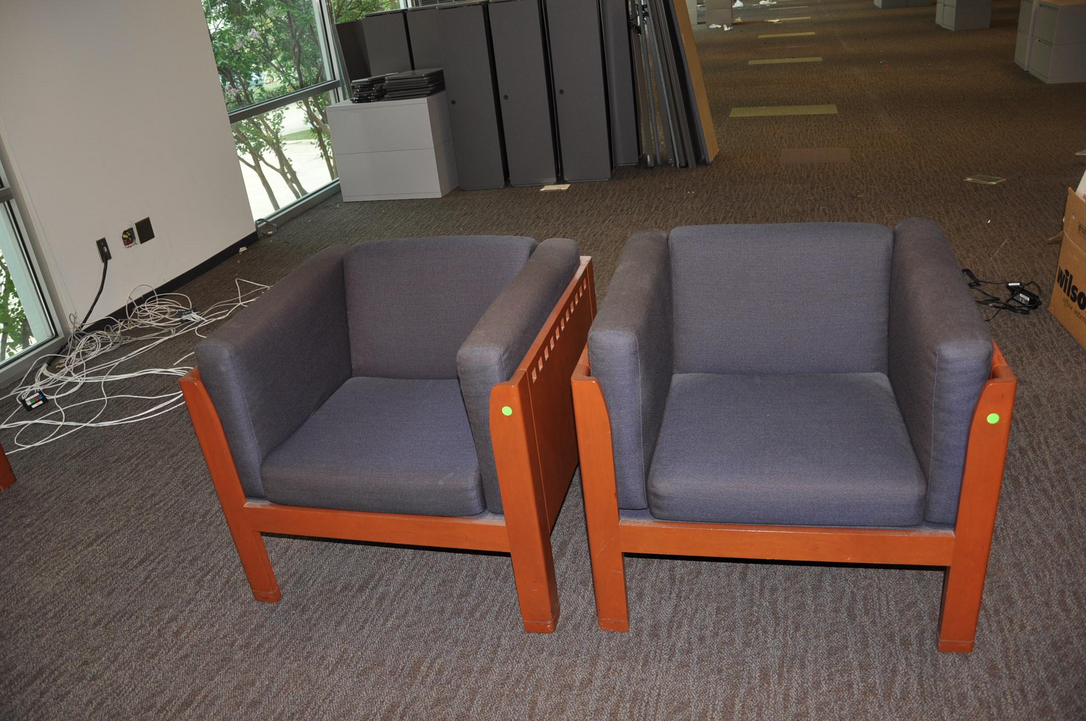 Cherry Frame Club Chairs