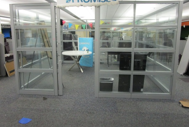 12′ X 12′ Glass Conference Room W/Door