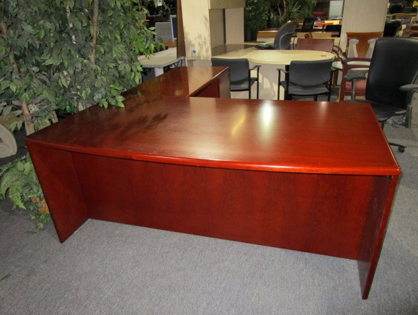 Bowed Front L Shape Desk