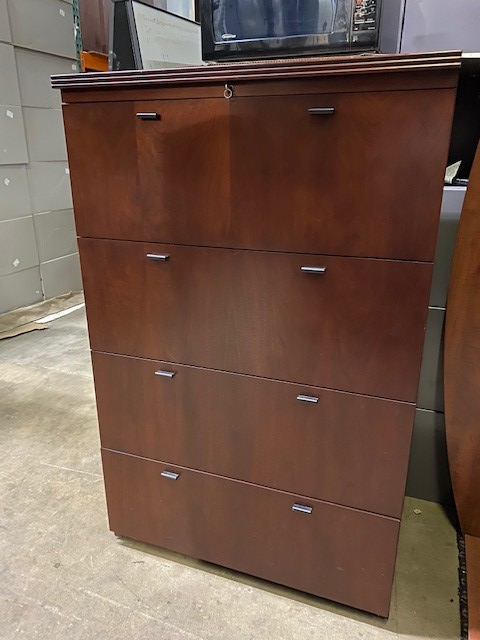 4 Drawer Wood Lateral