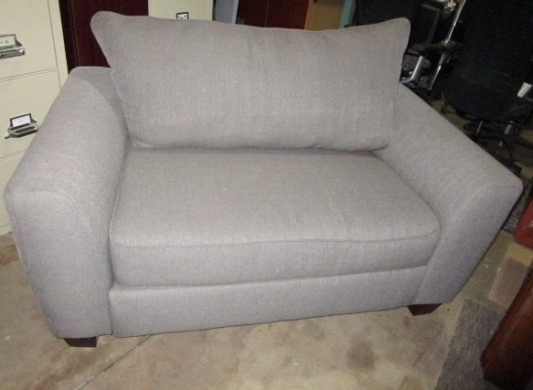 Gray Cloth Love Seat