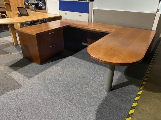 Bullet Top U Shape Desk-small