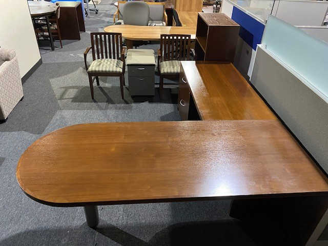 Bullet Top L Shape Desk