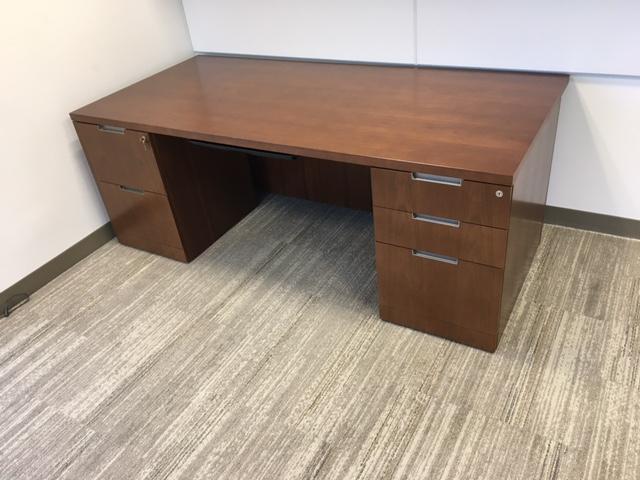 78″ X 36″ Double Pedestal Desk