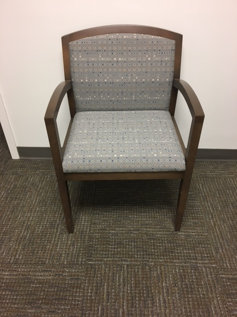 Walnut Frame Side Chair