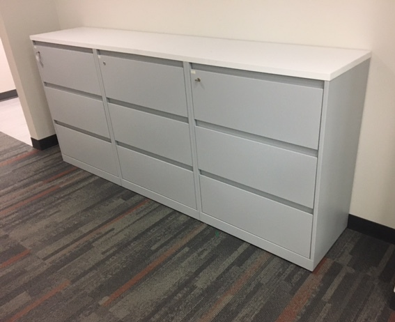 30″W 3 Drawer Lateral W/top